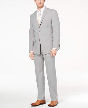 Andrew Marc Men's Classic-Fit Stretch Light Gray Solid Suit