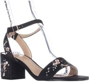 Nanette Lepore Ruby Flower Dress Sandals, Black.