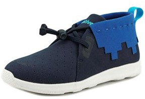 Native Apollo Mid Youth Round Toe Canvas Blue Sneakers.