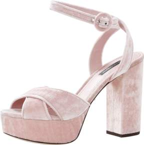 DOLCE & GABBANA Velvet Platform Sandal