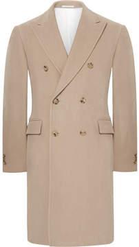 Calvin Klein Slim-Fit Double-Breasted Cotton-Moleskin Coat