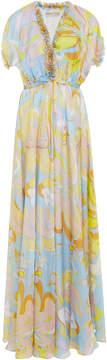 Emilio Pucci Graphic Printed Silk Maxi Dress