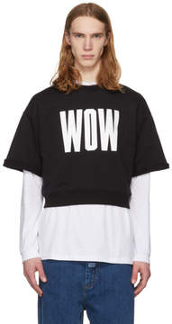 MSGM Black Wow T-Shirt