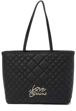 Love Moschino Quilted Zip-Top Tote Bag