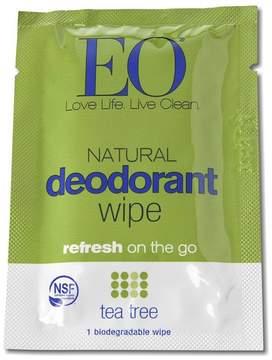 EO Tea Tree Certified Organic Deodorant Wipe Set by 6pcs Wipe)