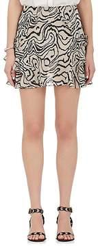 Derek Lam 10 Crosby Women's Silk Chiffon Ruffle Miniskirt