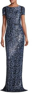Carmen Marc Valvo Sequined Gown