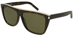 Saint Laurent Flat-Top Rectangle Sunglasses