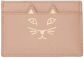 Charlotte Olympia SSENSE Exclusive Pink Feline Card Holder