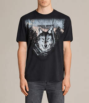 AllSaints Night Wolvs Crew T-Shirt