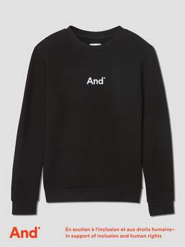 Frank and Oak And Man French Terry Crewneck in Black