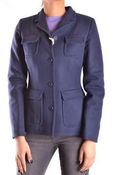 Geospirit Women's Blue Wool Coat.