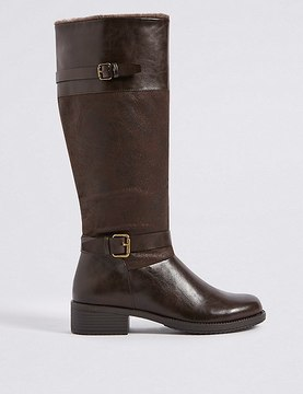 Marks and Spencer Block Heel Knee High Boots