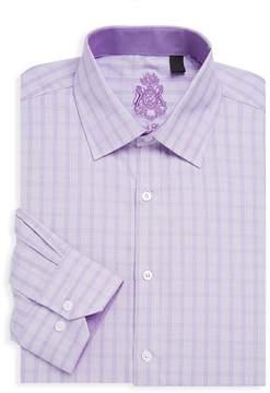 English Laundry Men's Printed Long-Sleeve Cotton Dress Shirt