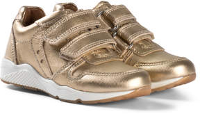 Bisgaard Gold Velcro Shoes