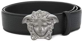 Versace Men's Black Leather Belt.