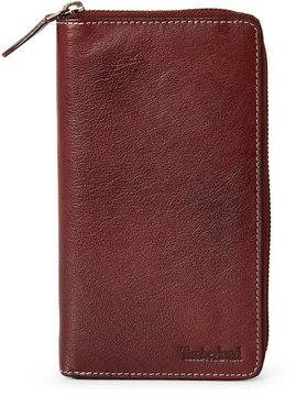 Timberland Brown Leather Zip-Around Wallet
