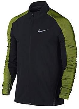 Nike New Mens Dri-FIT Black and Volt Stadium Jacket (Large)