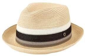 San Diego Hat Company Men's Paperbraid Pork Pie Homburg with Inset SDH3020
