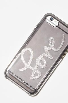 Rebecca Minkoff Love Silver Glitter Case For Iphone X