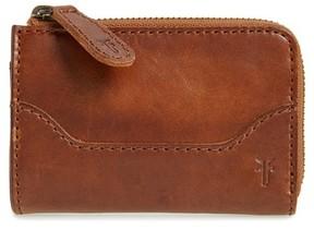 Frye Women's Small Melissa Leather Zip Wallet - Brown