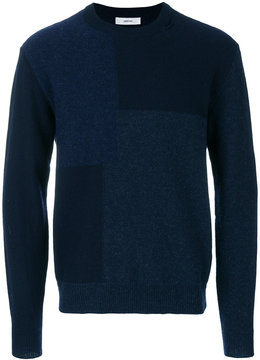 Mauro Grifoni asymmetric block pattern sweater
