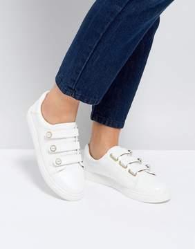 Miss KG Pearl Triple Velcro Strap Sneaker