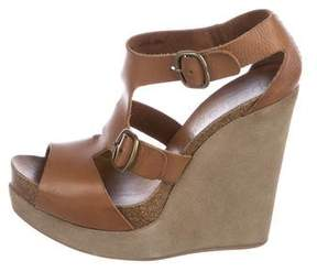 Pedro Garcia Leather Platform Wedges