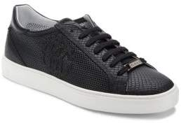 Roberto Cavalli Perforated Leather Sneakers