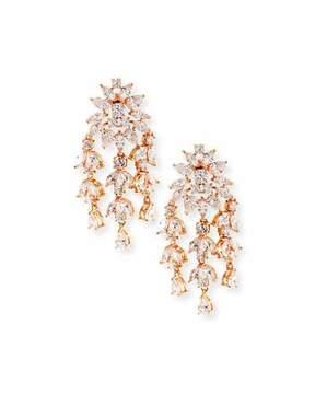 Fallon Monarch Weeping Fern Crystal Earrings