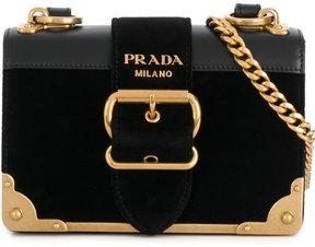 Prada Cahier buckle shoulder bag