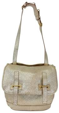 Saint Laurent Gold Cracked Leather Besace Bag - GOLD - STYLE