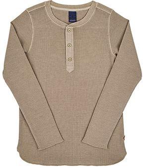 Scotch Shrunk Cotton-Blend Long-Sleeve Henley Shirt