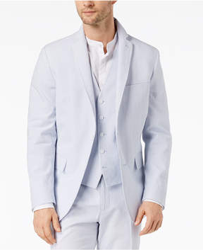 INC International Concepts I.n.c. Men's Slim-Fit Stretch Seersucker Blazer, Created for Macy's