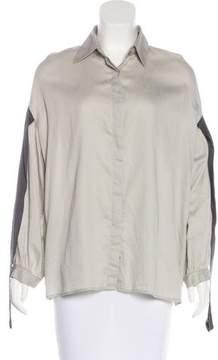 Dries Van Noten Button-Up Long Sleeve Top