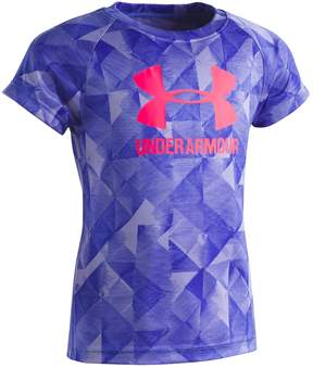 Under Armour Girls 4-6x Trifold Logo Tee