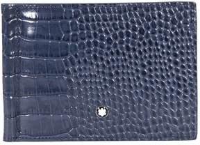 Montblanc Meisterstuck 6CC Indigo Leather Wallet