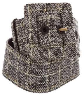 Saint Laurent Tweed Waist Belt