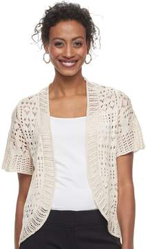 Apt. 9 Women's Open Knit Bolero Cardigan