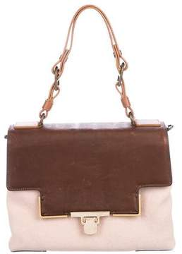 Lanvin Canvas Leather-Trimmed Satchel