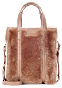 Balenciaga Bazar XS shearling shopper