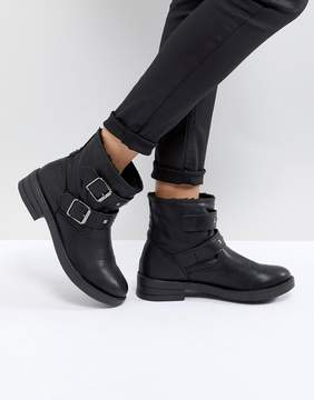 Asos ACCENT Studded Biker Ankle Boots