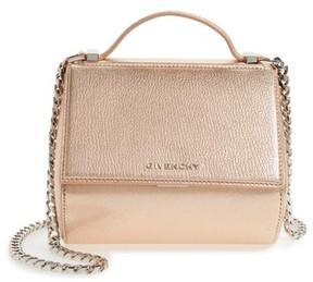Givenchy Pandora Metallic Leather Satchel - Pink