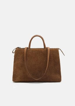 Marsèll 4 Dritta Distressed Suede Bag Vit Rov Ras Noce Chestnut Size: OS