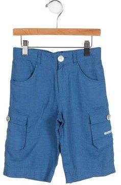 Tartine et Chocolat Boys' Linen Cargo Shorts w/ Tags