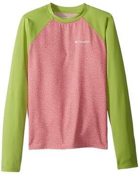 Columbia Kids Mini Breaker Printed Long Sleeve Sunguard Girl's Long Sleeve Pullover