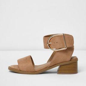 River Island Girls orange two part block heel sandals