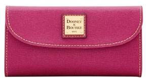 Dooney & Bourke Saffiano Continental Clutch Wallet - VIOLET - STYLE
