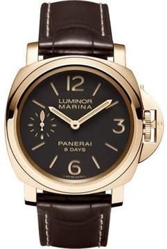 Panerai Luminor Marina PAM00511 18K Rose Gold / Leather 44mm Mens Watch