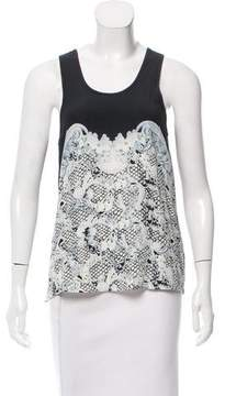 Emma Cook Silk-Blend Graphic Print Top